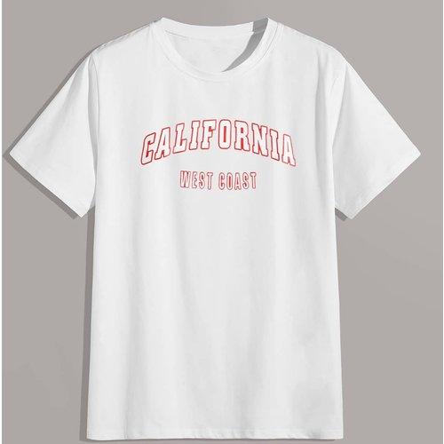 T-shirt avec col rond - SHEIN - Modalova