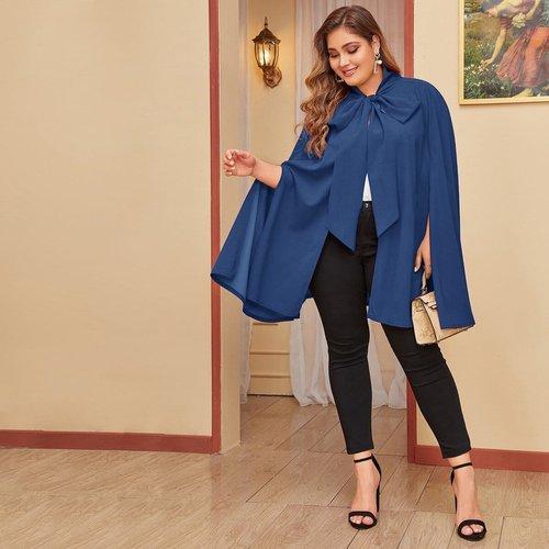Manteau cape avec nœud - SHEIN - Modalova