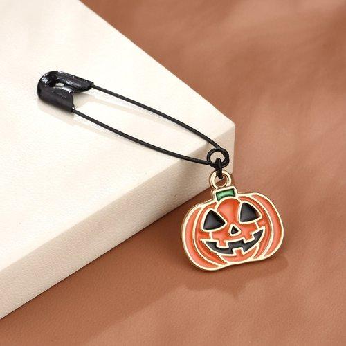 Broche design citrouille d'Halloween - SHEIN - Modalova