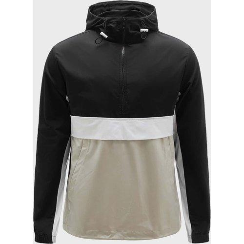 Manteau zippé avec blocs de couleur - SHEIN - Modalova