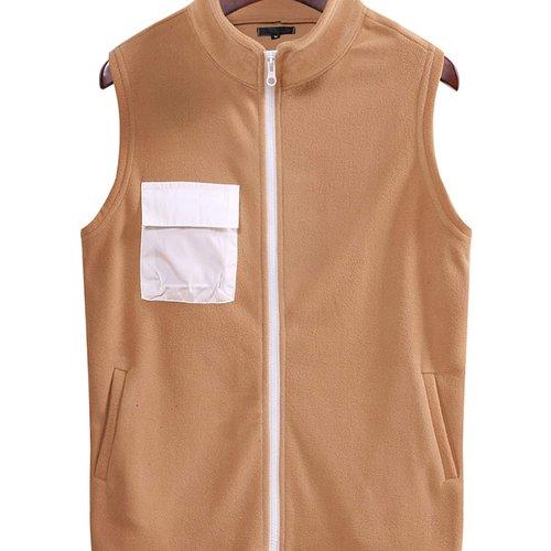 Manteau sans manches zippé - SHEIN - Modalova