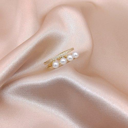 Bague avec fausse perle - SHEIN - Modalova