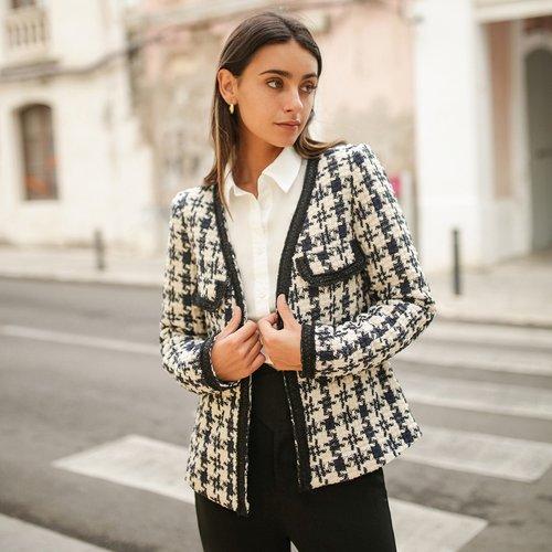 Veste en tweed - SHEIN - Modalova