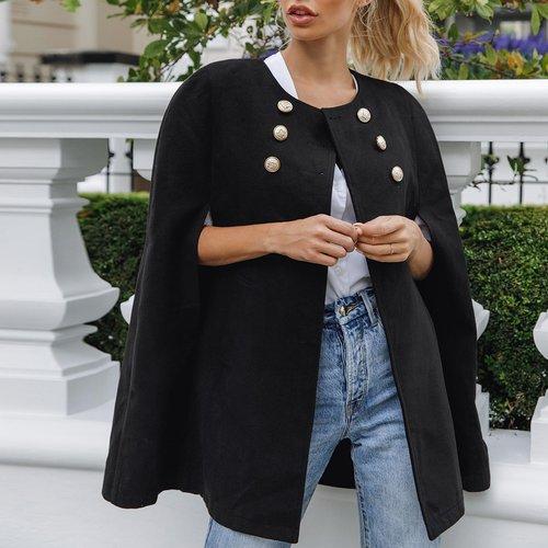Manteau cape avec boutons - SHEIN - Modalova