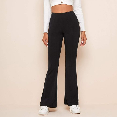 Pantalon bootcut taille haute - SHEIN - Modalova