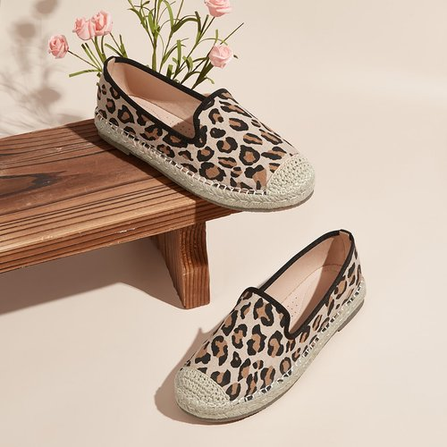 Mocassins espadrilles léopard - SHEIN - Modalova