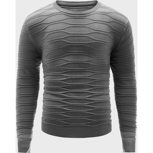Pull en tricot géométrique - SHEIN - Modalova