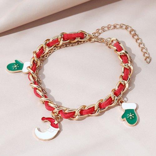 Bracelet avec détail gant de Noël - SHEIN - Modalova