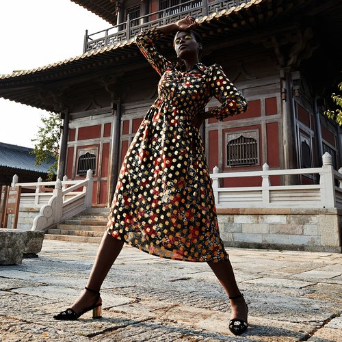 Robe chemise à motif fleur - SHEIN - Modalova