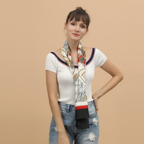 Foulard à rayures - SHEIN - Modalova