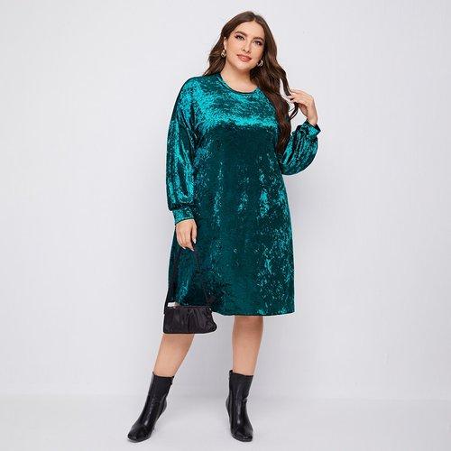Robe en velours - SHEIN - Modalova