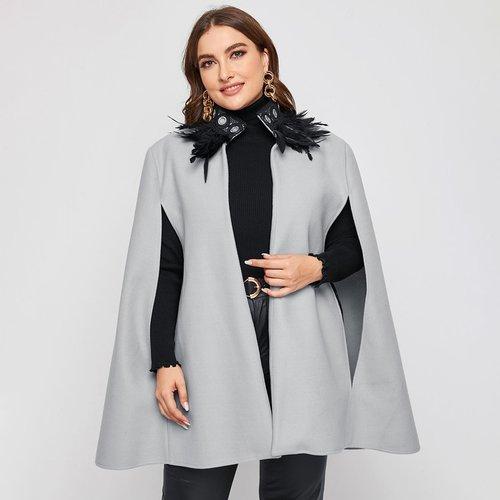 Manteau cape unicolore - SHEIN - Modalova