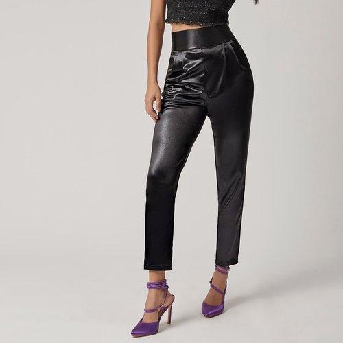Pantalon effet cuir - SHEIN - Modalova