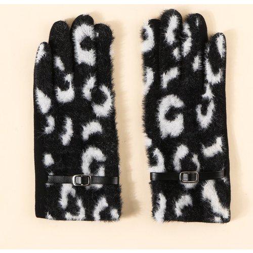 Gants en tissu duveteux à ceinture - SHEIN - Modalova
