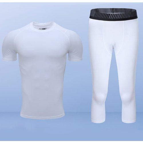 T-shirt de sport & Collant avec rayures - SHEIN - Modalova
