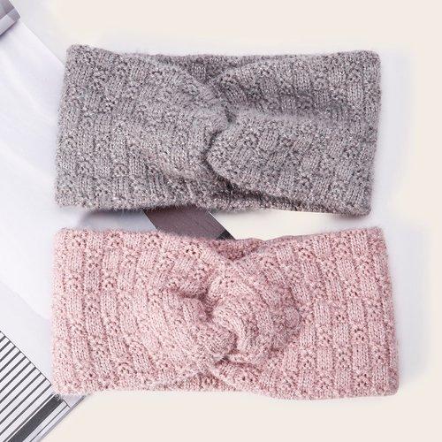 Pièces Bandeau à cheveux en tricot - SHEIN - Modalova