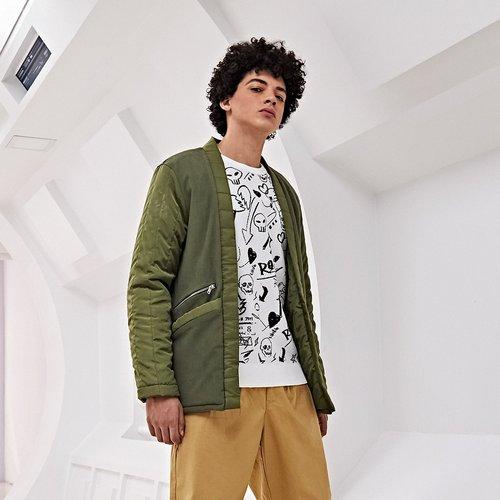 Manteau zippé avec poches - SHEIN - Modalova
