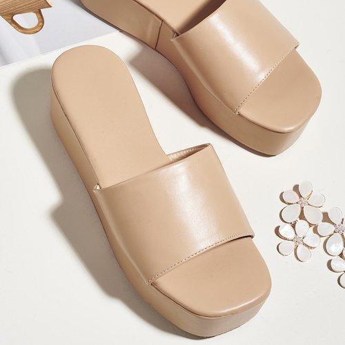 Mules compensées minimaliste - SHEIN - Modalova