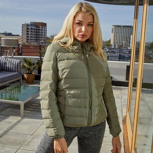 Veste matelassée zippée à capuche - SHEIN - Modalova