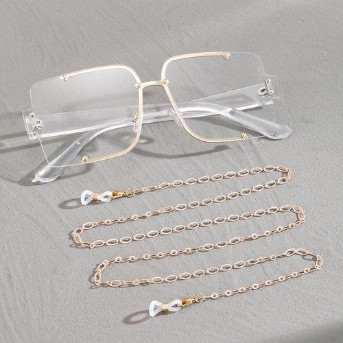 Lunettes oversize avec chaîne - SHEIN - Modalova