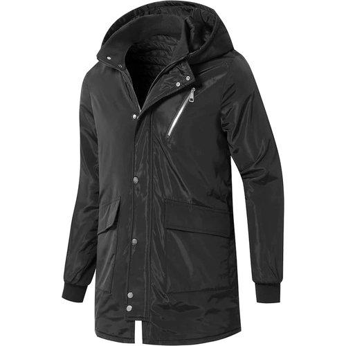Manteau à capuche zippé - SHEIN - Modalova