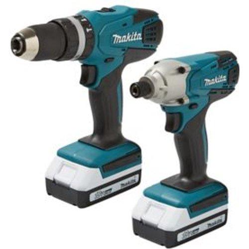 Makita 18V 1.5Ah Li-ion Cordless Combi drill & impact driver DK18015X2