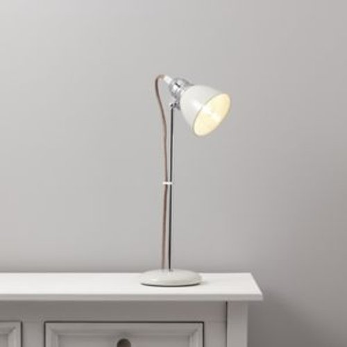 Colours Estiva Matt White CFL Table lamp