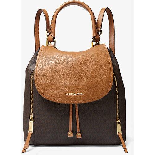 MK Grand sac à dos Viv en cuir à logo - - Michael Kors - MICHAEL Michael Kors - Modalova