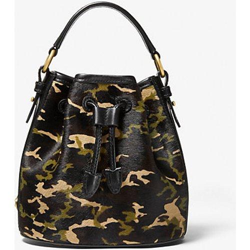 MK Petit sac seau Carole en poil de vachette à imprimé camouflage - - Michael Kors - MICHAEL KORS COLLECTION - Modalova
