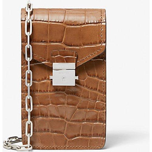 MK Sac à bandoulière Gramercy en cuir effet crocodile en relief pour téléphone - - Michael Kors - MICHAEL KORS COLLECTION - Modalova
