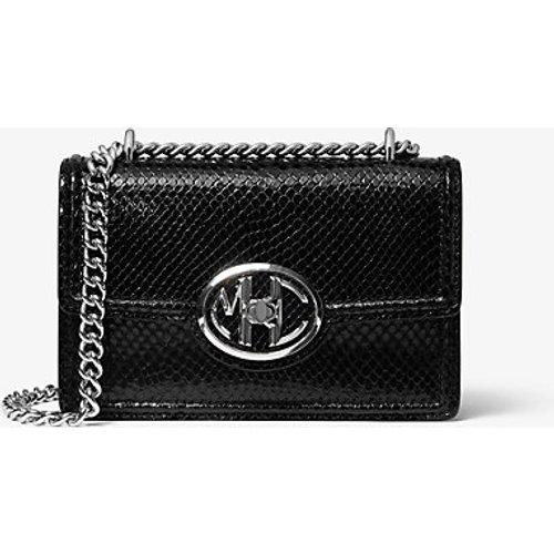 MK Monogramme Mini Python Embossed Leather Chain Shoulder Bag - - Michael Kors - MICHAEL KORS COLLECTION - Modalova