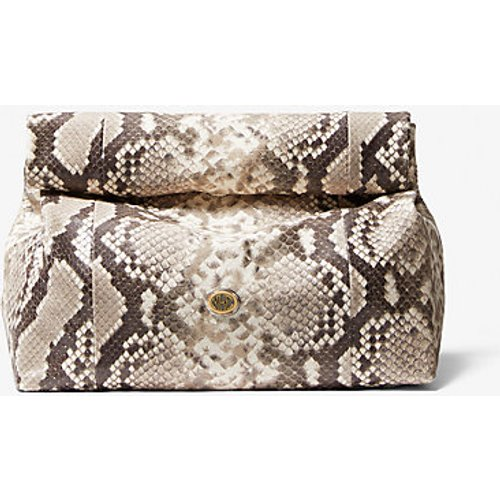 MK Pochette Monogramme «Lunch Bag» effet python en relief - - Michael Kors - MICHAEL KORS COLLECTION - Modalova