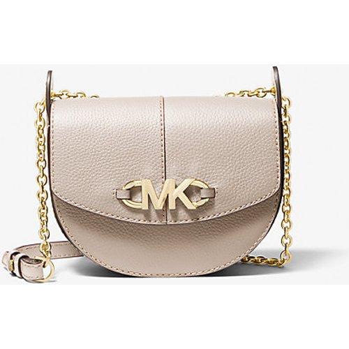 MK Petit sac à bandoulière Izzy façon sacoche de selle en cuir grainé - - Michael Kors - MICHAEL Michael Kors - Modalova