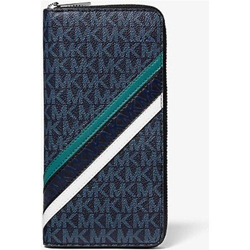 MK Portefeuille Cooper entièrement zippé à rayures et logo en relief - / - Michael Kors - Michael Kors Mens - Modalova