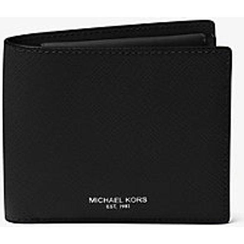 MK Portefeuille compact Harrison en cuir grainé avec compartiment à monnaie - - Michael Kors - Michael Kors Mens - Modalova