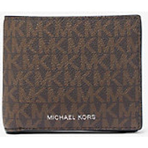 MK Portefeuille compact Greyson à logo avec compartiment à monnaie - /Noir() - Michael Kors - Michael Kors Mens - Modalova