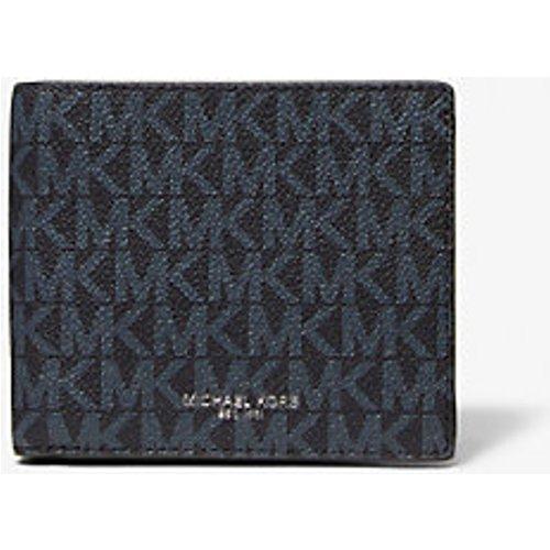 MK Portefeuille compact Greyson à logo avec compartiment à monnaie - /BLEU PÂLE(BLEU) - Michael Kors - Michael Kors Mens - Modalova