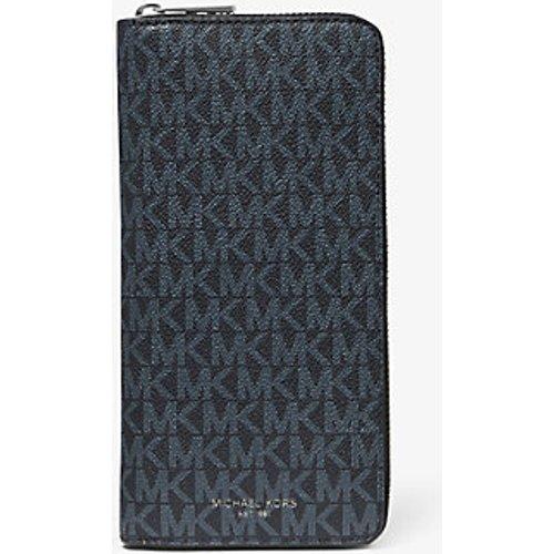MK Portefeuille Greyson entièrement zippé avec logo - /BLEU PÂLE(BLEU) - Michael Kors - Michael Kors Mens - Modalova