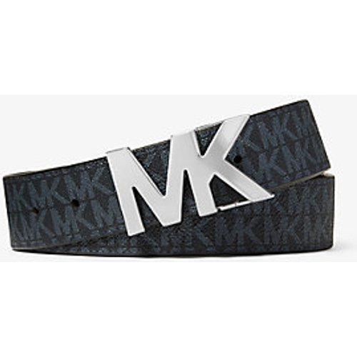 MK Ceinture à boucle réversible avec logo - /BLEU PÂLE(BLEU) - Michael Kors - Michael Kors Mens - Modalova