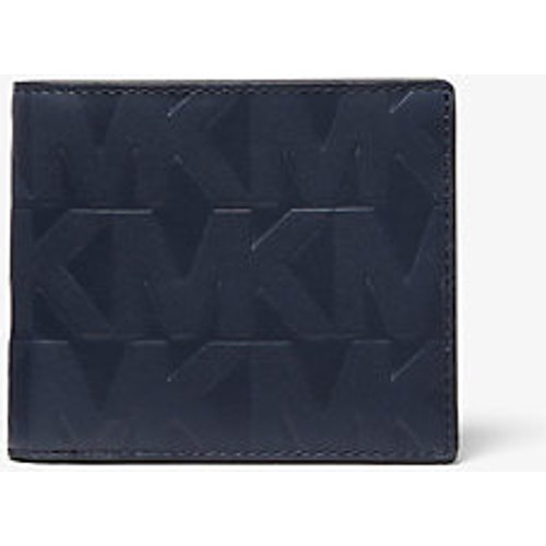 MK Portefeuille compact Hudson en cuir en relief - - Michael Kors - Michael Kors Mens - Modalova