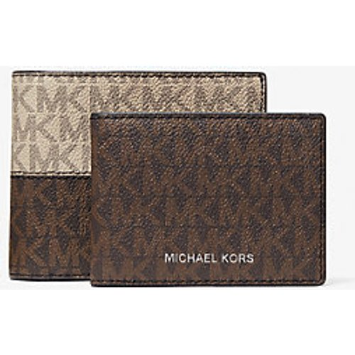 MK Portefeuille compact Hudson à logo et couleurs contrastées avec porte-cartes - // - Michael Kors - Michael Kors Mens - Modalova