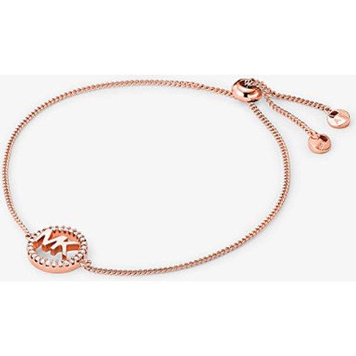 MK Bracelet à glissière avec logo en argent sterling plaqué en métal précieux  - Michael Kors - Modalova