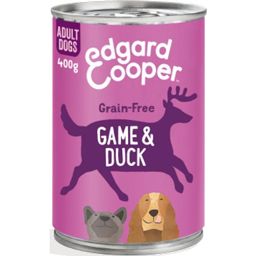 Edgard & Cooper Game & Duck Grain Free Tins Wet Adult Dog Food 400g x 6