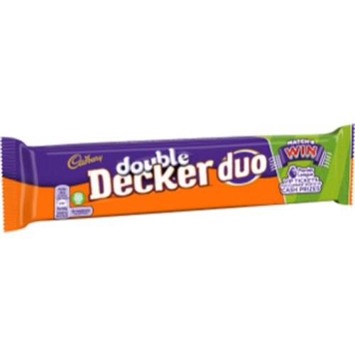 Cadbury Double Decker Duo 80g Chocolate Bar (Pack of 32)