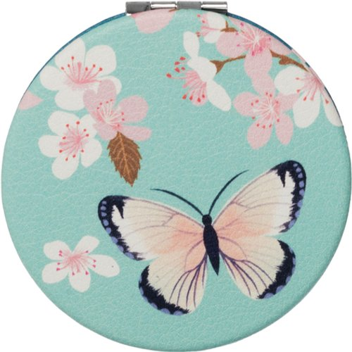 HALF PRICE! WHSmith Amaya Butterflies Compact Cosmetic Mirror