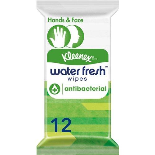 Kleenex Water Fresh Wipes Antibacterial Wipes (Pack of 12 Wipes)