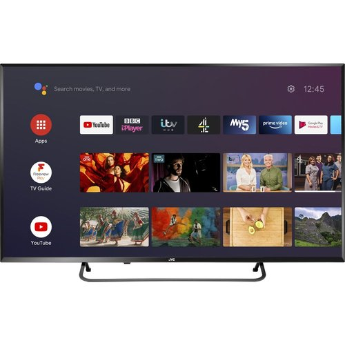 """Save £60.99 - 40""""  JVC LT-40CA890 Android TV  Smart 4K Ultra HD HDR LED TV with Google Assistant"""