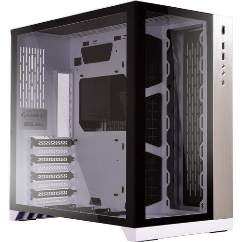 LIAN-LI PC-O11DW Dynamic Mid-Tower ATX PC Case - White, White