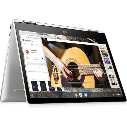 "HP x360 12"" 2 in 1 Chromebook - Intelu0026regCeleron, 64 GB eMMC, Silver, Silver"