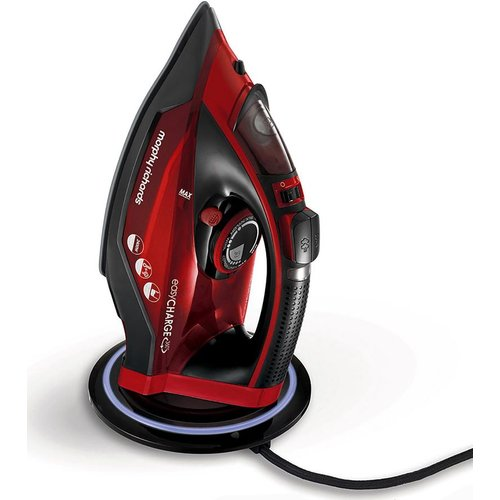 Save 30% - MORPHY RICHARDS Easycharge 303250 Cordless Steam Iron - Red & Black, Red